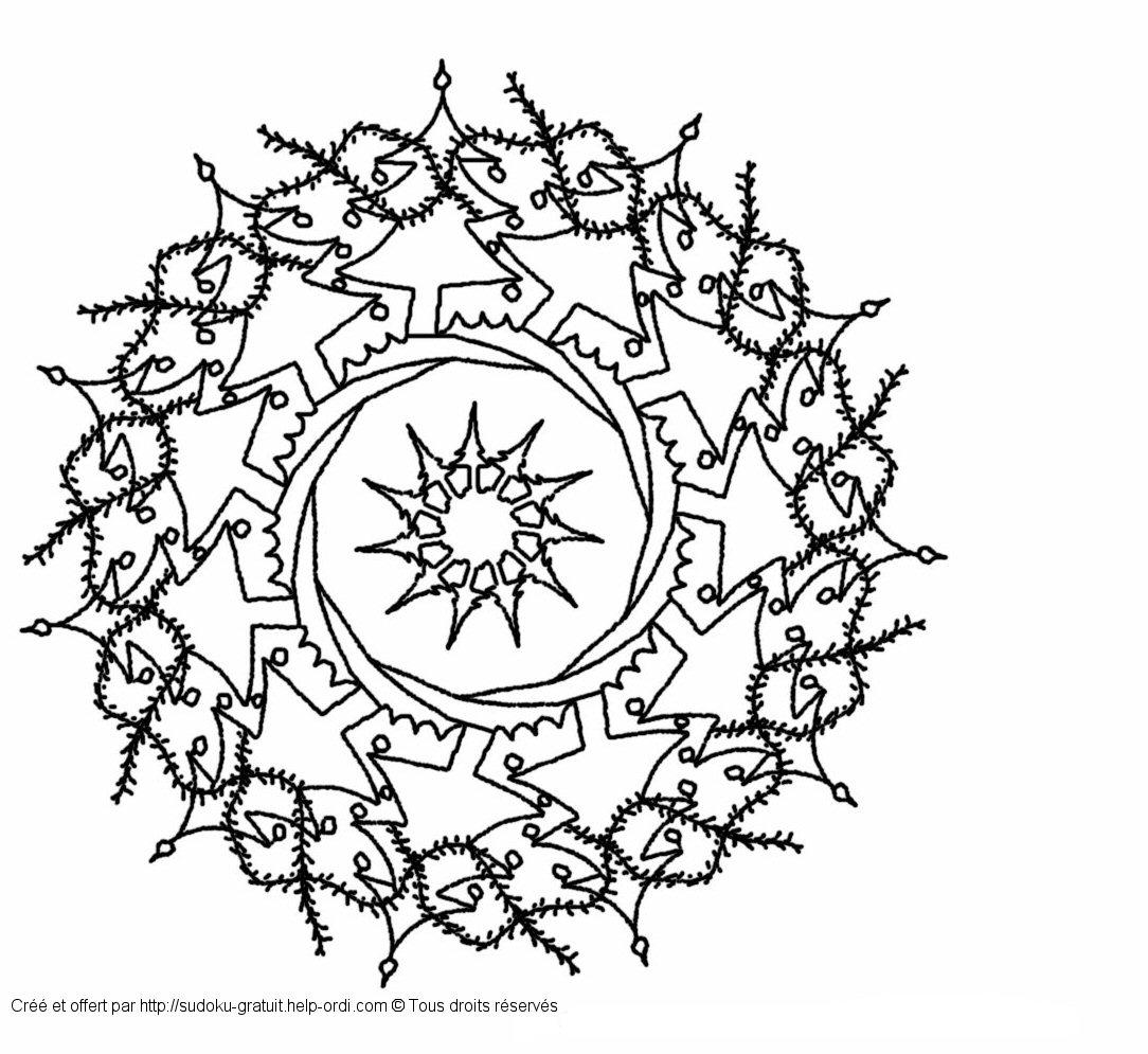 Mandala de nol gratuit coloriage enfants - Coloriage de noel gratuit ...