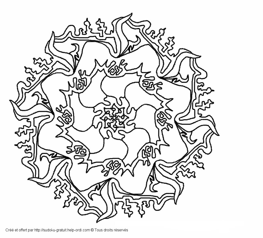 Free Kaleidoscope Coloring Pages