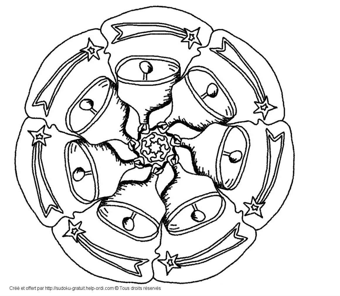 Mandala de nol gratuit coloriage enfants - Coloriage de noel a imprimer gratuitement ...