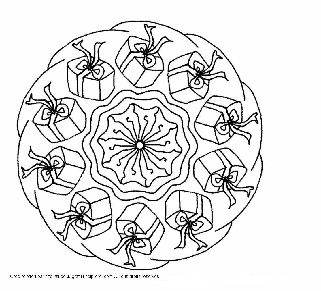Mandala de no l gratuit coloriage enfants - Coloriage de mandala de noel ...